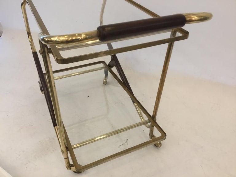 Italian Mid-Century Modern Bar Cart or Trolley, 1950s For Sale 2