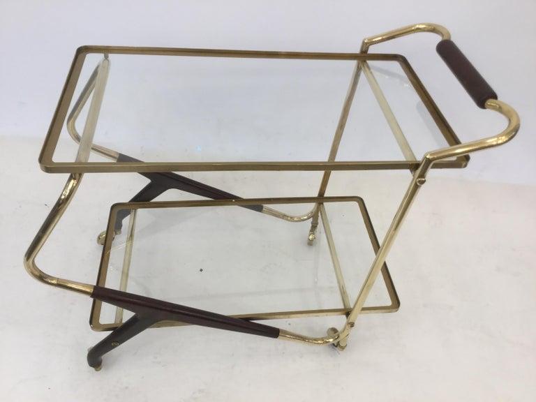 Italian Mid-Century Modern Bar Cart or Trolley, 1950s For Sale 3