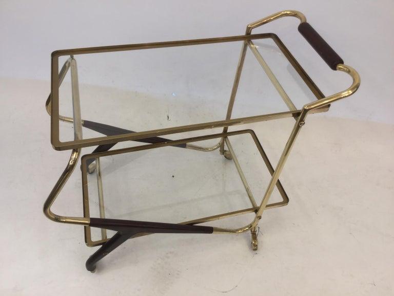 Italian Mid-Century Modern Bar Cart or Trolley, 1950s For Sale 4