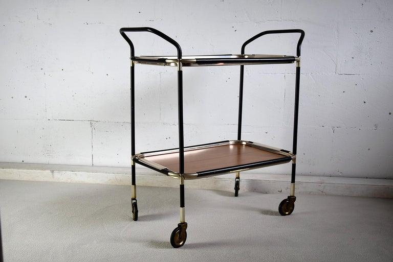 Mid-20th Century Italian Mid-Century Modern Bar Trolley For Sale