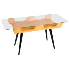 Italian Mid-Century Modern Birch Coffee Table in Cesare Lacca Style, 1950s
