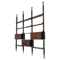Italian Mid-Century Modern Bookcase Fixed to the Ceiling by Stildomus, 1960s