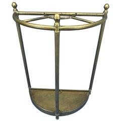 Italian Mid-Century Modern Brass Umbrella Stand