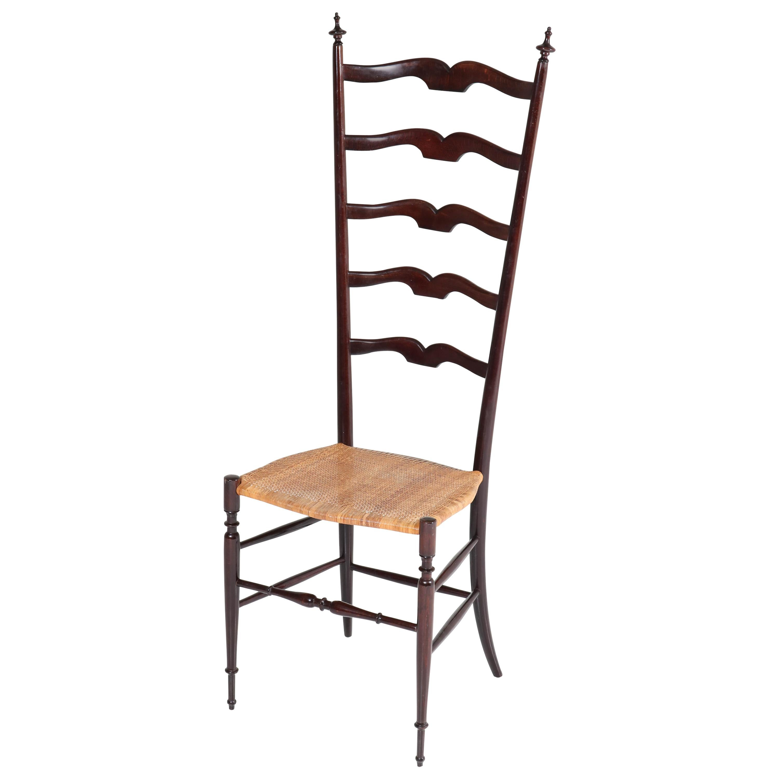 Italian Mid-Century Modern Chiavari Hall Chair Attributed to Paolo Buffa, 1950s