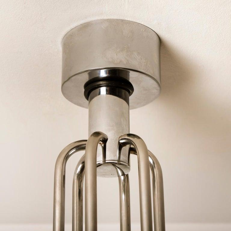 Italian Mid-Century Modern Chrome Chandelier by Gaetano Sciolari, 1960s For Sale 10