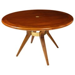 Italian Mid-Century Modern Circular Dining Table/ Center Table