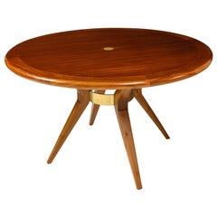 Italian Mid-Century Modern Circular Dining Table/ Center Table