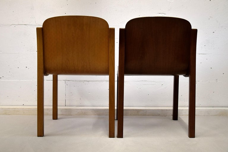 Italian Mid-Century Modern Curved Plywood Chairs by Carlo Bartoli For Sale 4