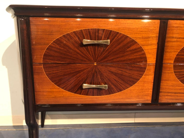 Italian Mid-Century Modern Dresser, Commode or Console by Vittorio Dassi, 1950s For Sale 4