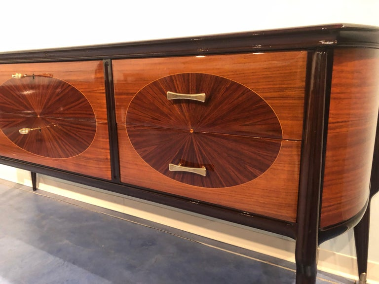 Italian Mid-Century Modern Dresser, Commode or Console by Vittorio Dassi, 1950s For Sale 5