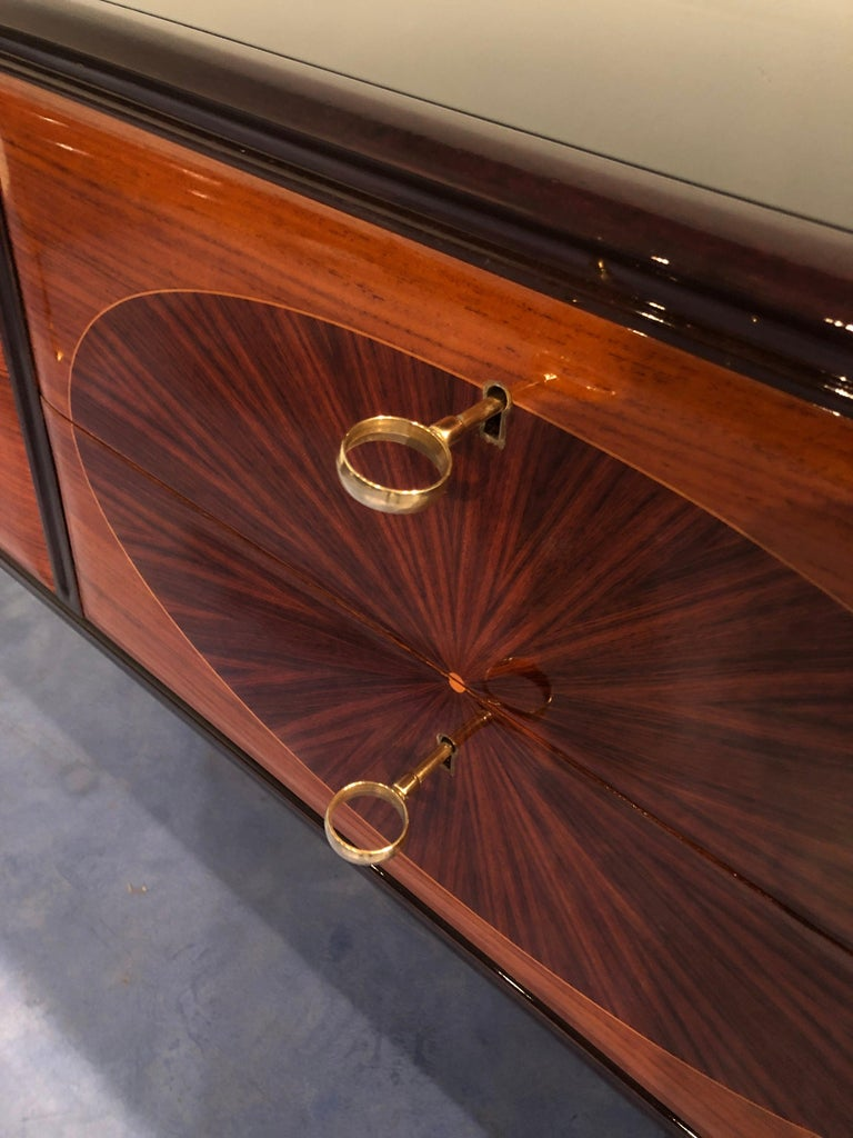 Italian Mid-Century Modern Dresser, Commode or Console by Vittorio Dassi, 1950s For Sale 6