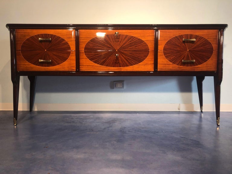 Italian Mid-Century Modern Dresser, Commode or Console by Vittorio Dassi, 1950s In Good Condition For Sale In Traversetolo, IT