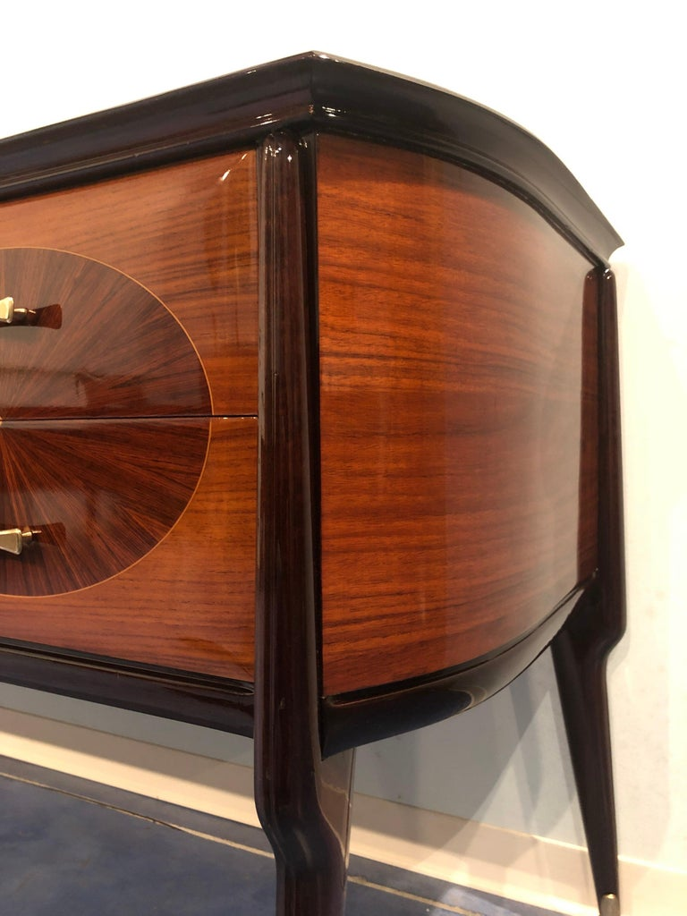 Italian Mid-Century Modern Dresser, Commode or Console by Vittorio Dassi, 1950s For Sale 1