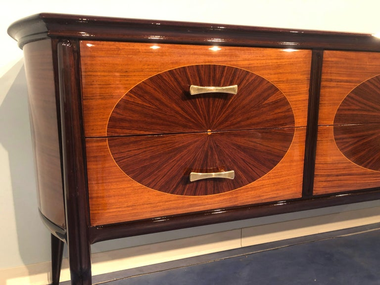 Italian Mid-Century Modern Dresser, Commode or Console by Vittorio Dassi, 1950s For Sale 2