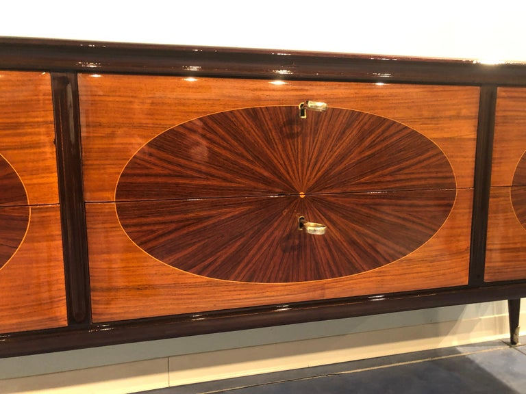 Italian Mid-Century Modern Dresser, Commode or Console by Vittorio Dassi, 1950s For Sale 3