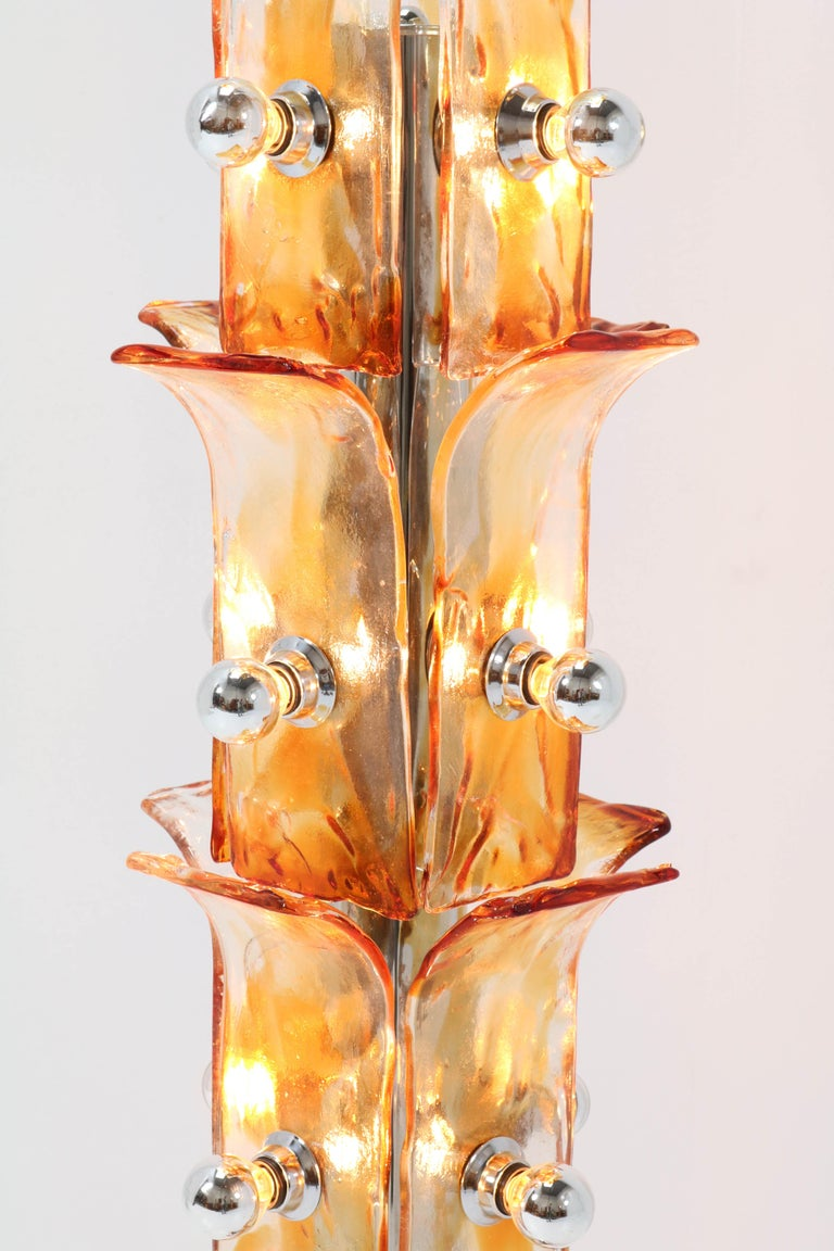 Italian Mid-Century Modern Floor Lamp Attributed to Toni Zuccheri, 1970s For Sale 8