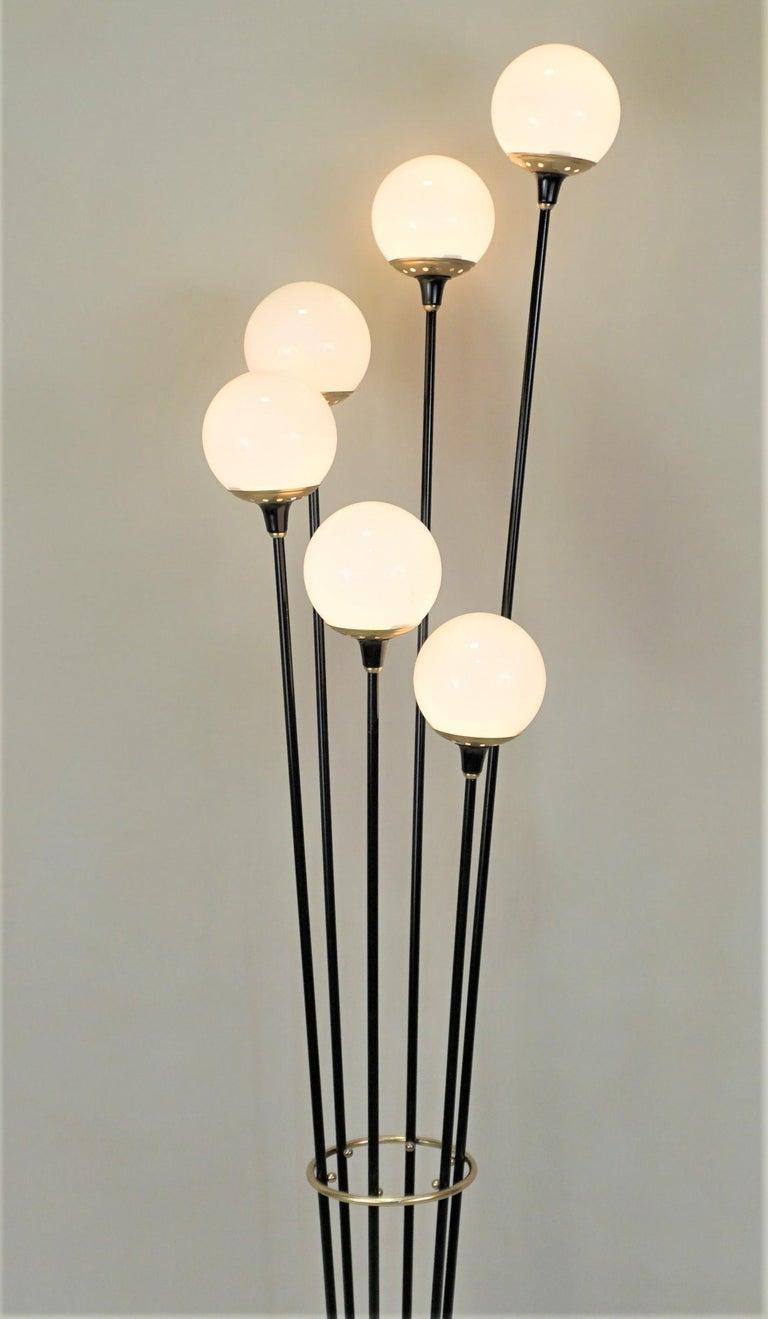Lacquered Italian Mid-Century Modern Floor Lamp by Stilnovo