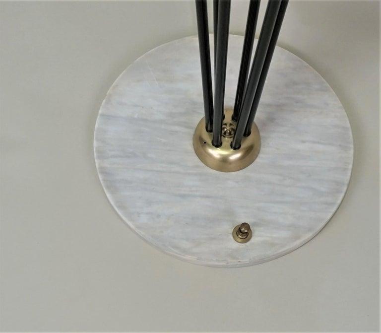 Metal Italian Mid-Century Modern Floor Lamp by Stilnovo