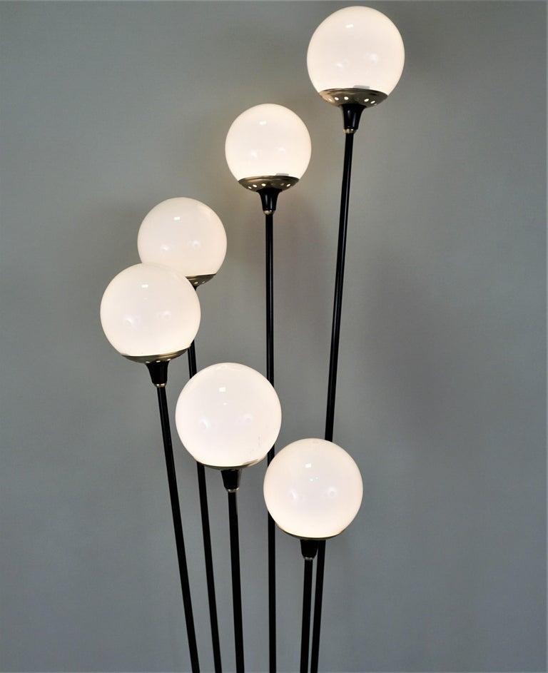 Italian Mid-Century Modern Floor Lamp by Stilnovo 1