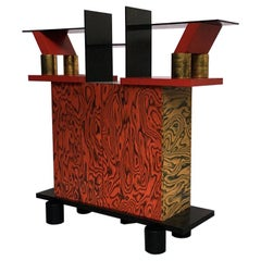 Italian Mid-Century Modern Freemont Cabinet by Ettore Sottsass for Memphis, 1985