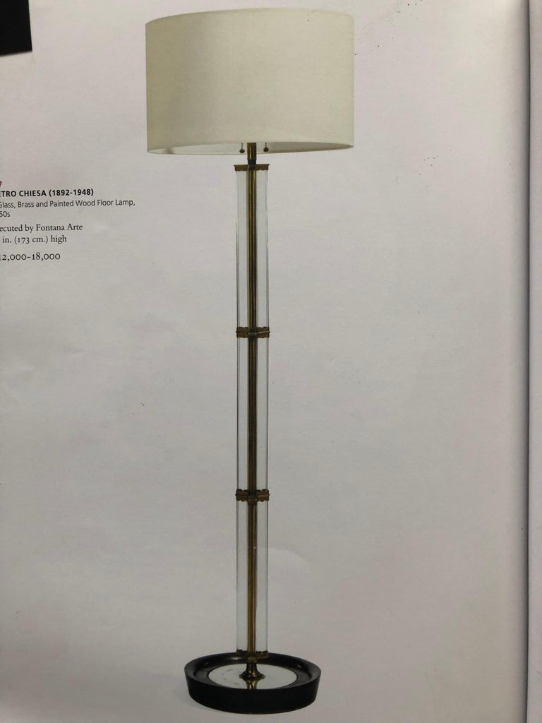 Italian Midcentury Green Glass Floor Lamp by P. Chiesa for Fontana Arte, 1930 For Sale 9