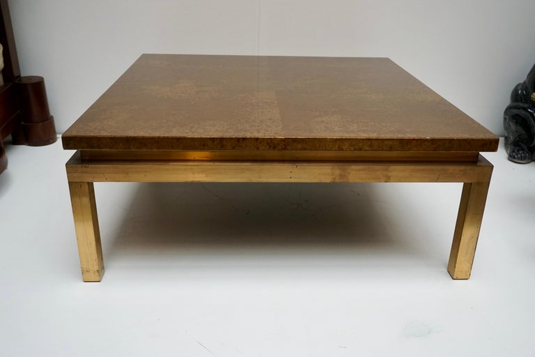Italian Mid-Century Modern Gold Coffee Table For Sale 5