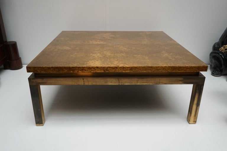 Italian Mid-Century Modern Gold Coffee Table For Sale 6