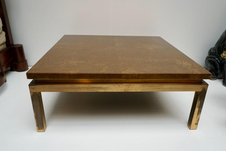 Italian Mid-Century Modern Gold Coffee Table For Sale 7