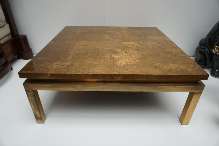 Italian Mid-Century Modern Gold Coffee Table For Sale 8