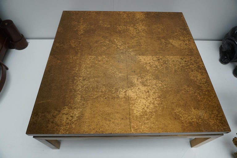 Italian Mid-Century Modern Gold Coffee Table For Sale 9