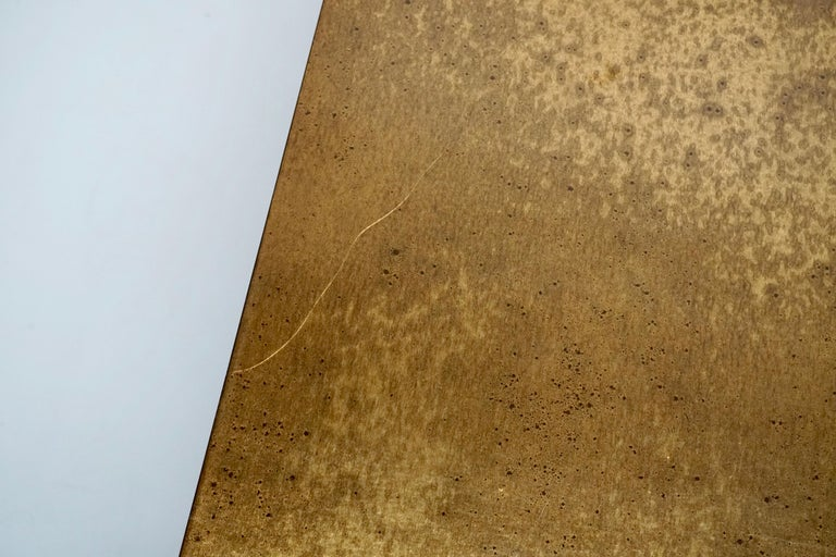 Italian Mid-Century Modern Gold Coffee Table For Sale 1