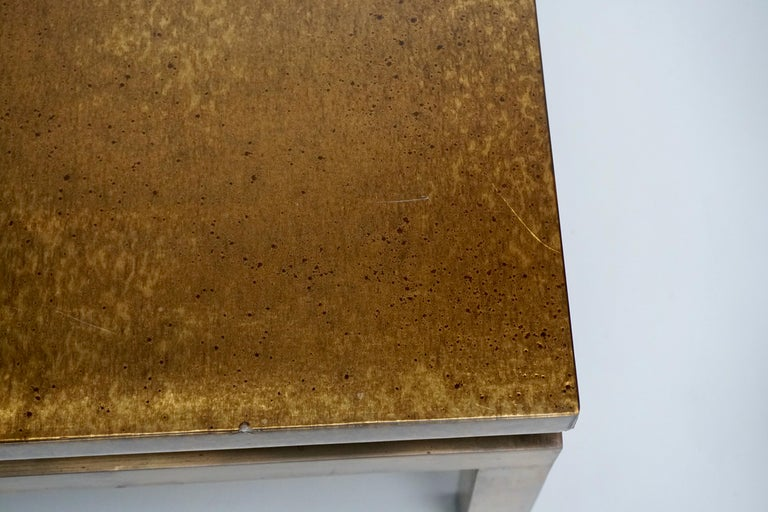 Italian Mid-Century Modern Gold Coffee Table For Sale 2