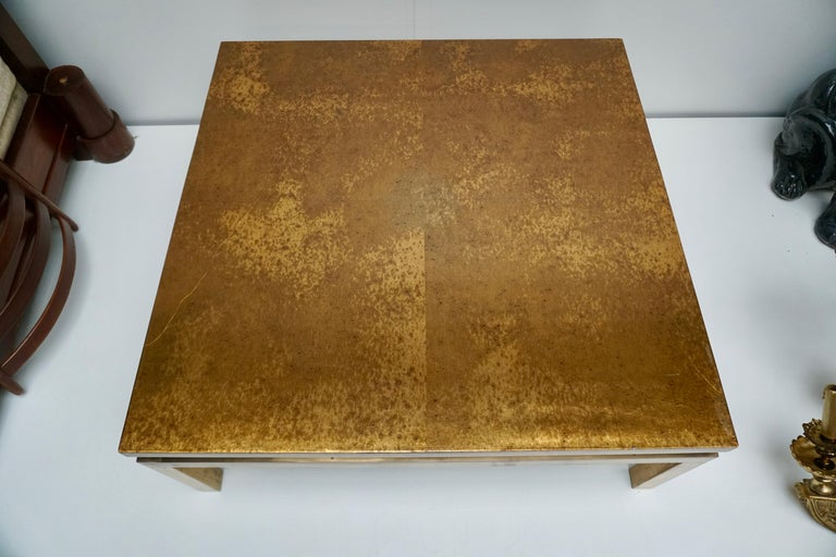 Italian Mid-Century Modern Gold Coffee Table For Sale 4