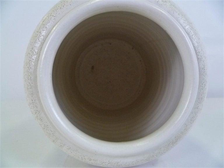 Mid-20th Century Italian Mid-Century Modern Hand Thrown Ceramic Vase Ardalt Bitossi, 1960s For Sale