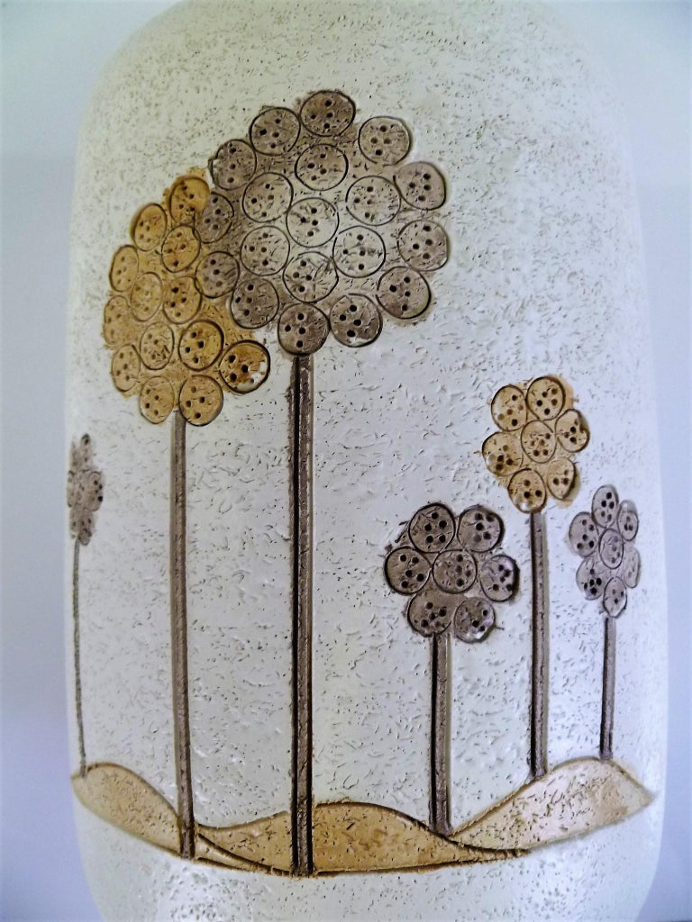 Italian Mid-Century Modern Hand Thrown Ceramic Vase Ardalt Bitossi, 1960s For Sale 1