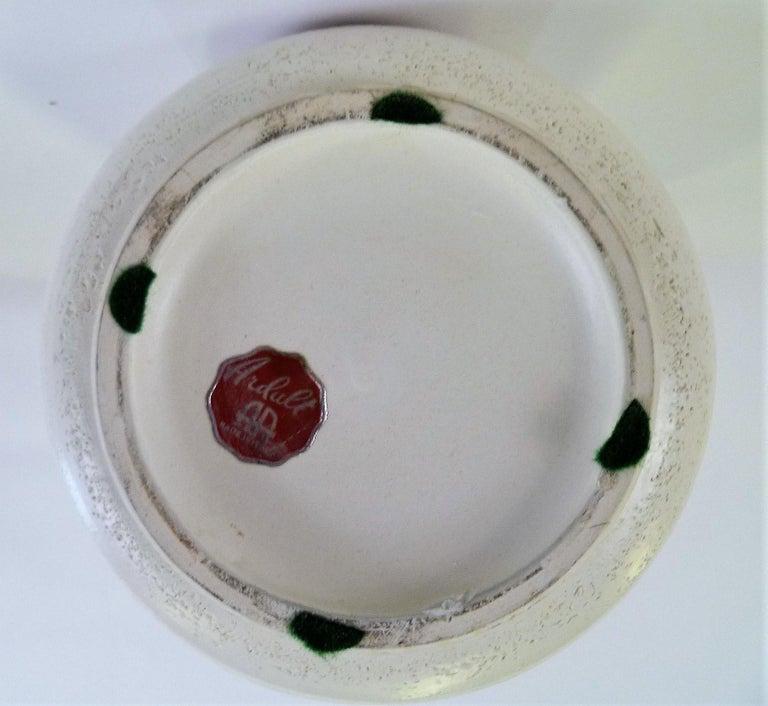 Italian Mid-Century Modern Hand Thrown Ceramic Vase Ardalt Bitossi, 1960s For Sale 2