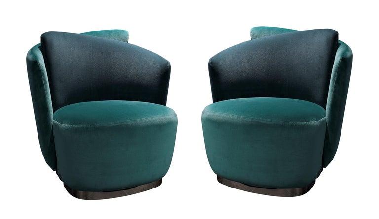 Contemporary Italian Mid-Century Modern Inspired Armchair For Sale