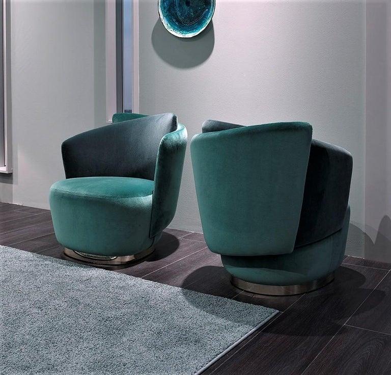 Italian Mid-Century Modern Inspired Armchair For Sale 2