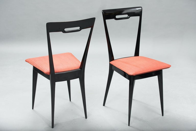 Italian Mid-Century Modern Italian Dining Chairs, Set of Six In Excellent Condition For Sale In Porto, PT