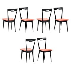 Italian Mid-Century Modern Italian Dining Chairs, Set of Six