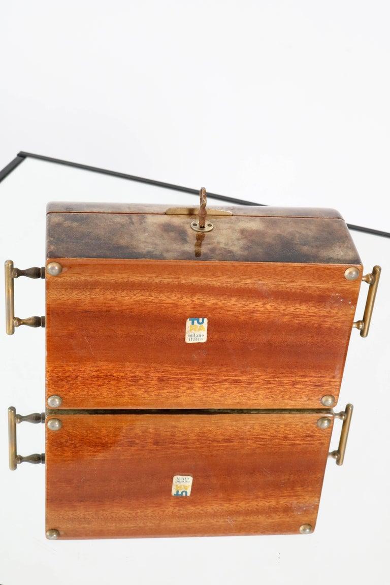 Italian mid century modern jewelry box by aldo tura 1960s for sale 6