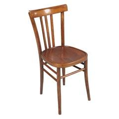 Italian Mid-Century Modern Kitchen Chair in Walnut Restored and Wax Polished