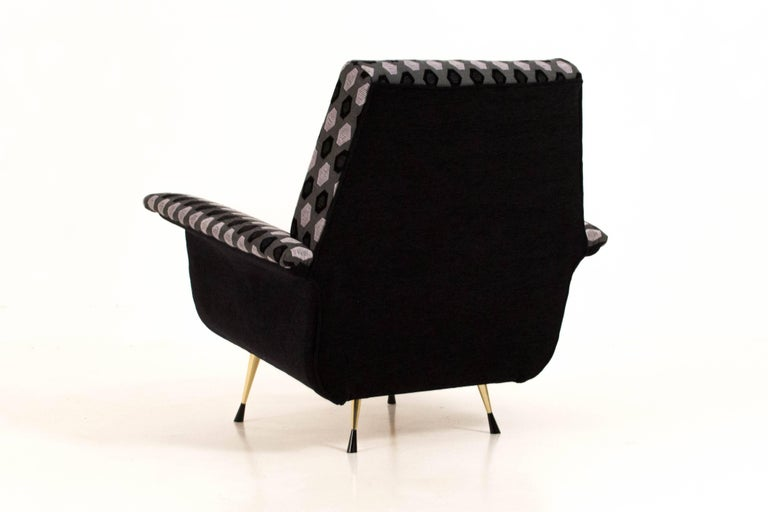 Aluminum Italian Mid-Century Modern Lounge Chairs, 1960s For Sale