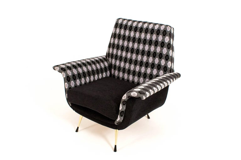 Italian Mid-Century Modern Lounge Chairs, 1960s For Sale 1
