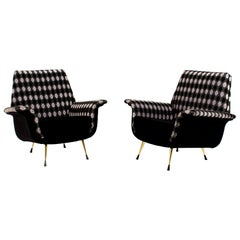 Italian Mid-Century Modern Lounge Chairs, 1960s