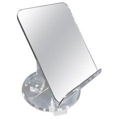 Italian Mid-Century Modern Lucite Vanity Table Mirror