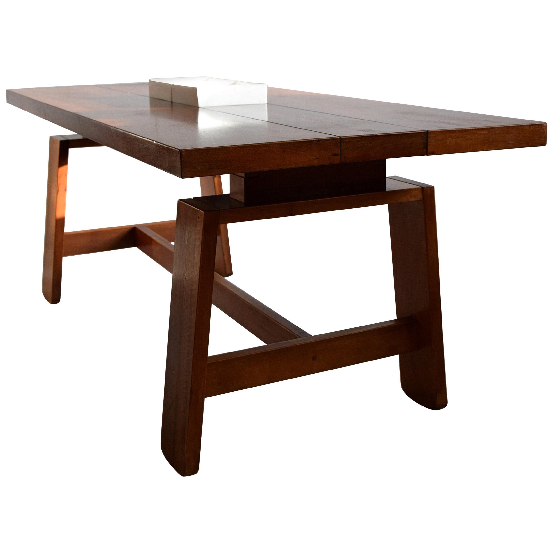 Italian Mid-Century Modern Mahogany Dining Table by Silvio Coppola for Bernini
