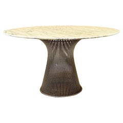 Italian Mid-Century Modern Marble Dining Table by Warren Platner for Knoll 1970s