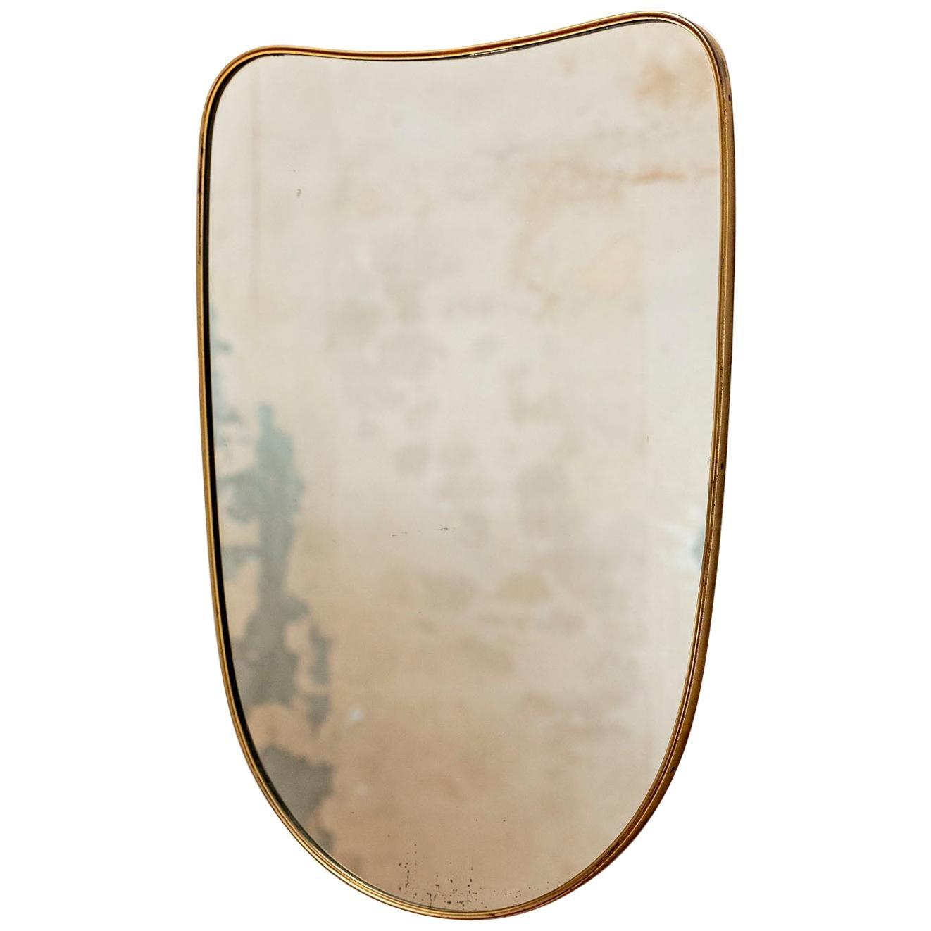 Italian Mid-Century Modern Mirror Inspired to Gio Ponti