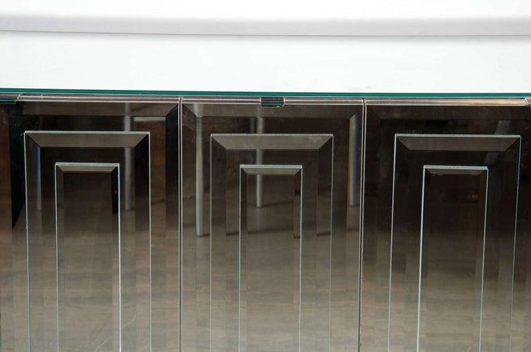 Italian Mid-Century Modern Mirrored and Chrome